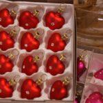 rote Herzen als Werksverkauf Christbaumdekoration