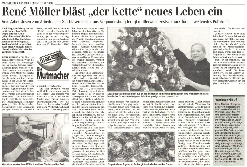 Zeitungsbericht 2003