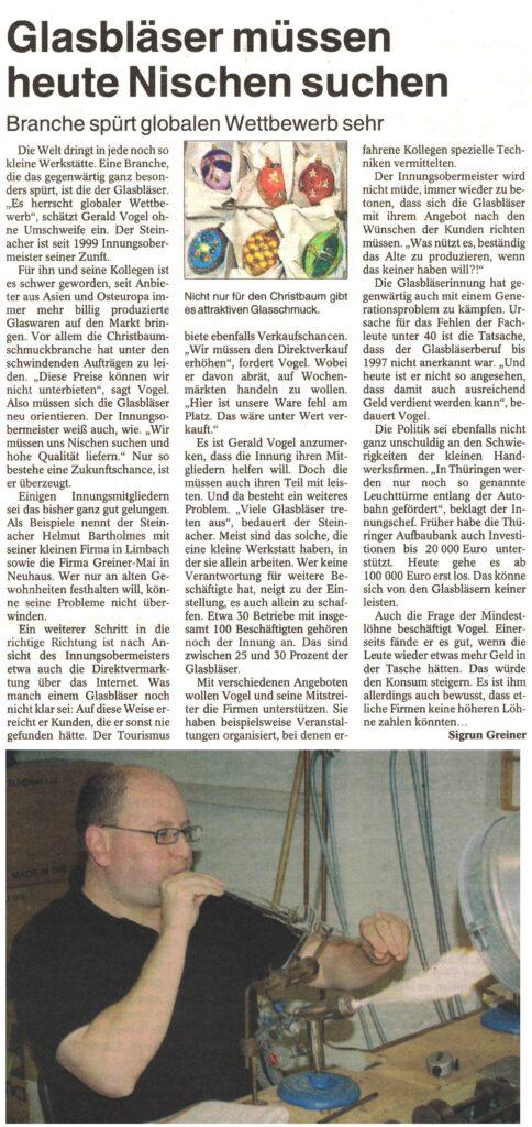 Zeitungsbericht 2007